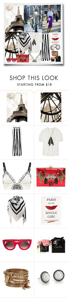 """""""Paris&The Single Girl"""" by sherryphoenix ❤ liked on Polyvore featuring Alice + Olivia, Miu Miu, Loveday London, GEDEBE, Kate Spade, Thierry Lasry, ALDO and Blue Nile"""