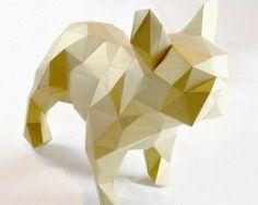 Cat DIY folding kit easy downloads by StudioRenateDesign on Etsy
