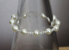 Faux pear and glass bead bracelet by HandmadeShelley on Etsy