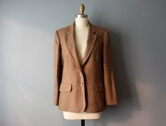 vintage tweed blazer / wool blazer / womens blazer/ by GazeboTree on Etsy