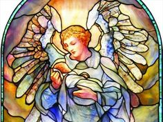 Stained Glass Angels | ... Church Tiffany Angel - Stained Glass Windows on Waymarking.com