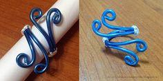 Tante piccole idee realizzate: Anello in filo di alluminio blu.