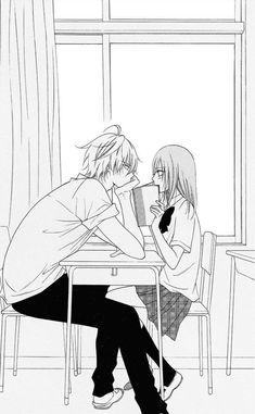 Warum gibt es sowas bei mir an der schule nicht? *traurig seufz* - Ach ja… Warum gibt es sowas bei mir an der schule nicht? Anime Couples Drawings, Anime Couples Manga, Cute Anime Couples, Anime Couples Hugging, Couple Manga, Anime Love Couple, Anime Comics, Kawaii Anime, Sweet Pictures