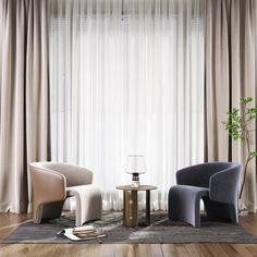 现代单椅角几落地灯组合- 建E网3d模型分享交流平台-3d模型下载-3d模型下载网站 Sofa Chair, Armchair, Chairs, Curtains, Furniture, Home Decor, Single Sofa, Blinds, Decoration Home