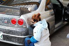 Nissan Skyline GTR gets an unconventional, but beautiful, Sharpie 'paint job'