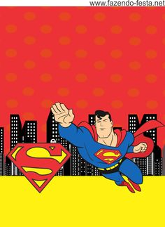 Superman Invitations, Boy Birthday Invitations, Superman Birthday Party, Superhero Party, Superman And Superwoman, Baby Avengers, Marvel Comics Superheroes, Party Themes, Theme Parties