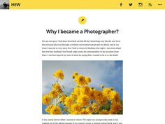 Hew is a topic suitable for blogging site. Hew designedwith distinct identity and a splash of colour!It's all about sharing your thoughts and experiences, and connecting with your readers via...