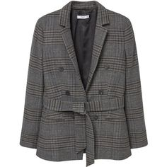 Check Suit Blazer (€83) ❤ liked on Polyvore featuring outerwear, jackets, blazers, checked blazer, checked jacket, mango jackets, mango blazer and checkered jacket