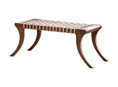 a reclaimed teak window seat of klismos form the woven lattice hide seat on squared ancient greek furniture