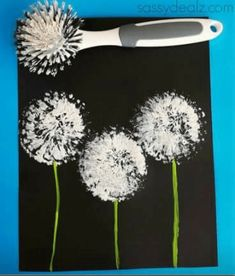 fleurs pissenlit peinture painting ideas on canvas for teens Kids Crafts, Diy Crafts To Do, Crafts For Teens To Make, Diy Projects For Kids, Diy For Kids, Art Projects, Arts And Crafts, Seed Bead Art, Seed Bead Jewelry