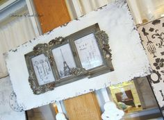 Gorgeous reclaimed wood picture frame!!