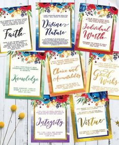"""Use these free LDS Youth Battalion printables to help you teach, inspire, and minister to the youth! They are great reminders of President Nelson's challenge to """"enlist in the Lord's Youth Battalion. Young Women Values, Young Women Lessons, Young Women Handouts, Printable Poster, Printable Quotes, Lds Youth, Personal Progress, Girls Camp, Latter Day Saints"""
