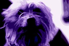 A personal favorite from my Etsy shop https://www.etsy.com/listing/505189240/purple-dog-wall-art