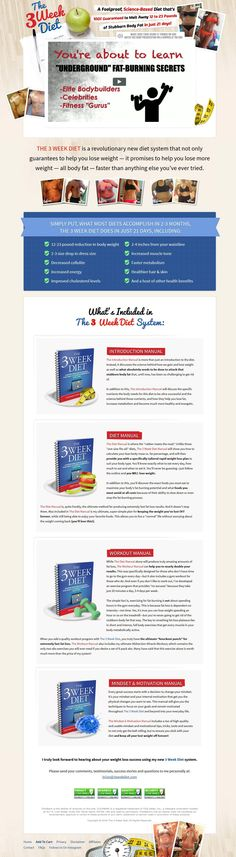 Food & Drink Archives - The Easier LifeTHE 3 WEEK DIET is a revolutionary new diet system that not only guarantees to help you lose weight — it promises to help you lose more weight — all body fat — faster than anything else you've ever tried. http://www.theeasierlife.com/3-week-diet
