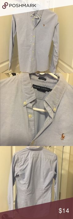 Ralph Lauren button up Great polo shirt, perfect for a business casual environment or any time! I offer discounts for bundles and accept offers :) Ralph Lauren Tops Button Down Shirts