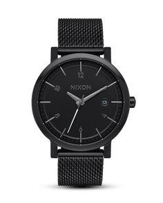 Quarzuhr Rollo 38 SS A1087-001-00 All Black NIXON schwarz 3608700818863