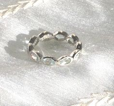 20% SALE Rainbow Moonstone Eternity Ring or by NorthCoastCottage