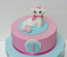 The Aristocats: Marie Cake by eunicecakedesigns