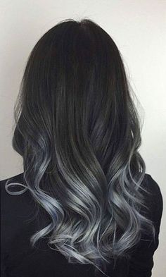 strayhair.com charcoal-to-silver-balayage-hair