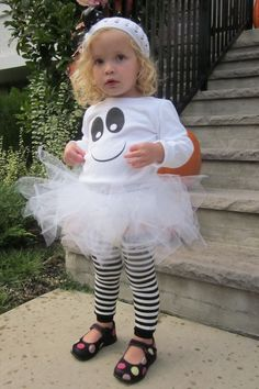 L'il Boo Ghost Tutu Costume onesie/shirt by happycakescreations, $55.00