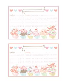 The Cottage Market: Cupcake Recipe Cards and more all FREE