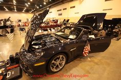 This is a 2013 Chevrolet Corvette and is owned by Mike Morris from Pearland, TX.  This beautiful show car is on display at the 37th Corvette Chevy Expo last February in Houston, Texas.
