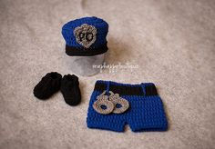 newborn policeman prop set costume cops by snaphappyboutique, $42.00