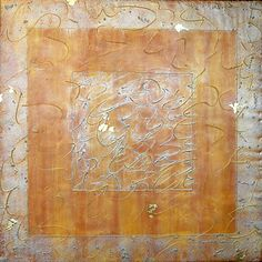 Eileen P. Goldenberg? - Encaustic with Oil Bar and Metal Leaf .  Canvas on Braced Board. 2009