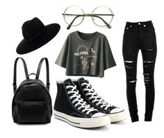 """Untitled #95"" by twentyonepilotsxx ❤ liked on Polyvore featuring Yves Saint Laurent, Converse and STELLA McCARTNEY"