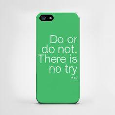 Do Or Not Do - cover iPhone 5 i 5s w artiglo na DaWanda.com