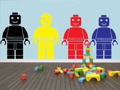 Good Personalised Lego Man Style Wall Sticker Wall Art Decal Movie Boys Childrens Part 32