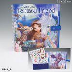 Fantasy Model & Friends Colouring Book