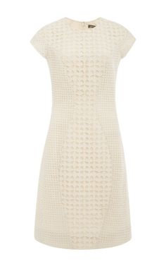 English Embroidery Dress In Papyrus by Zac Posen for Preorder on Moda Operandi