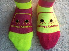 "My Soxy Feet Smiley Socks! ""Happy Heart""  ""Happy Soul"" When your feet are smiliing your soul will follow! #mysoxyfeet #socks #run #athleticsocks #giftidea"