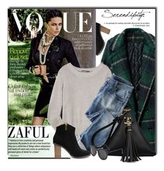 """""""ZAFUL.com"""" by monmondefou ❤ liked on Polyvore featuring T By Alexander Wang, Wrap, women's clothing, women's fashion, women, female, woman, misses, juniors and zaful"""