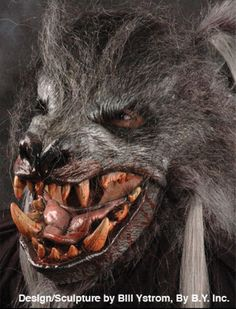 Gray Killer Wolf Moving Mouth Mask