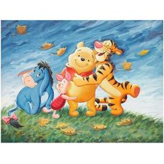 Full Square Round Resin Drill Diamond Painting Winnie the Pooh Diy Diamond Embroidery Cartoon Mos Eeyore Pictures, Winnie The Pooh Pictures, Winnie The Pooh Plush, Winne The Pooh, Winnie The Pooh Quotes, Disney Winnie The Pooh, Baby Disney, Disney Art, Eeyore Quotes