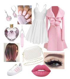 """Pinky Sweet"" by marianacristina2000 on Polyvore featuring adidas, Charlotte Russe, Alex and Ani, Vera Wang and Lime Crime"