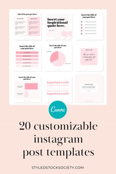 20 customizable Instagram post design Canva templates for coaches, strategists, and other online business owners. Use these instagram templates to save time on creating graphics for your Instagram post ideas. #instagram #canvatemplates #socialmedia Instagram Tips, Instagram Story, Instagram Posts, Digital Marketing Strategy, Social Media Marketing, Content Marketing, Instagram Post Template, Bar Graphs, Virtual Assistant