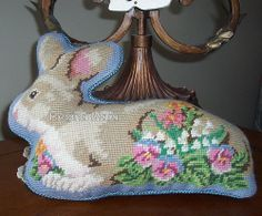 embroidery easter bunny needlepoint