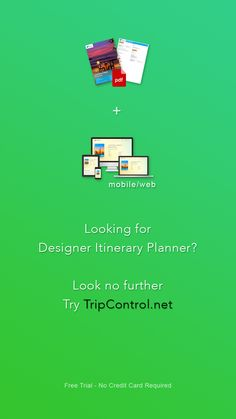 Looking for Designer Itinerary Planner? Look no further - Try TripControl.net