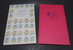 Hallmark Editions Poetry/Poem Books - A Friend Indeed and To Be a Friend by VintageEtcEtc on Etsy