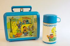 Plastic lunch boxes and thermoses. SO uncool in grade school. Everyone wanted to use brown paper bags, because plastic lunch boxes were for BABIES.