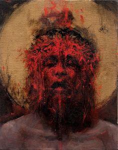 MAN II by Santiago CARUSO Acrylics on linen | 24 x 18,5 cm | 2017