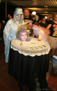 tumblr_mce9n9CRut1r337tvo2_500.jpg (397×640)   Best Costume for Couples -  Wife (wheelchair) table with (ghost) hubby.