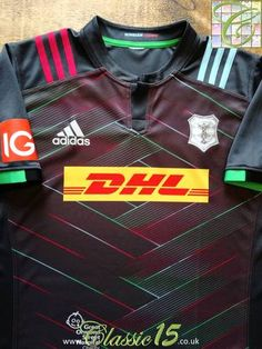 Harlequin S//Sleeve New Rugby Shirt Front Row Quartered Patch Drill