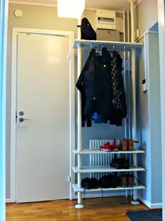 Stolmen for shoes and coats - IKEA Hackers / Jacken-Haken unter Regalbrett...