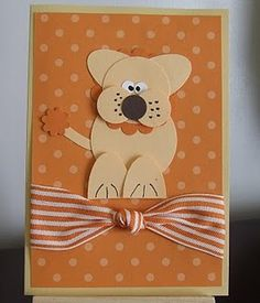 Dog card using punches.