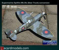 1/33 Supermarine Spitfire Mk.IXe RAF NH481 FF-B Conversion Kit Paper Model