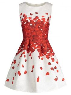 GET $50 NOW   Join RoseGal: Get YOUR $50 NOW!http://www.rosegal.com/print-dresses/petal-print-sleeveless-skater-dress-1109773.html?seid=8569013rg1109773